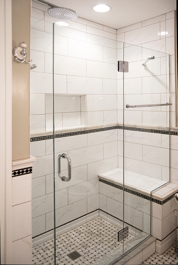 Black and white shower