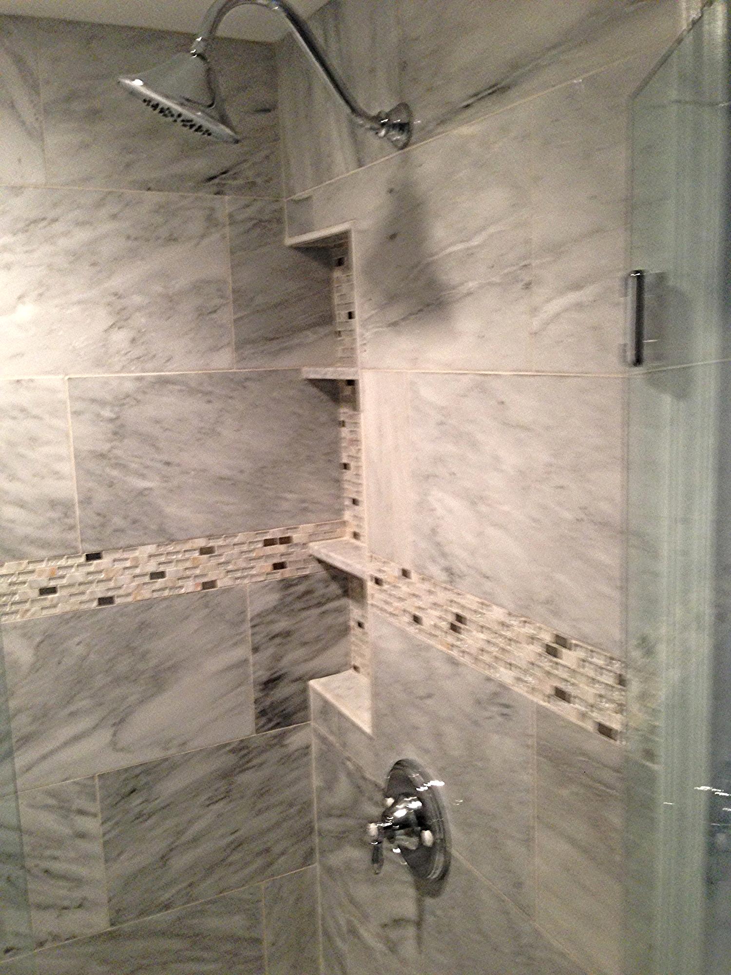 "12"" x 36"" marble recessed niche"