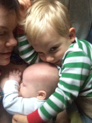 Sunday morning pile-up in bed.
