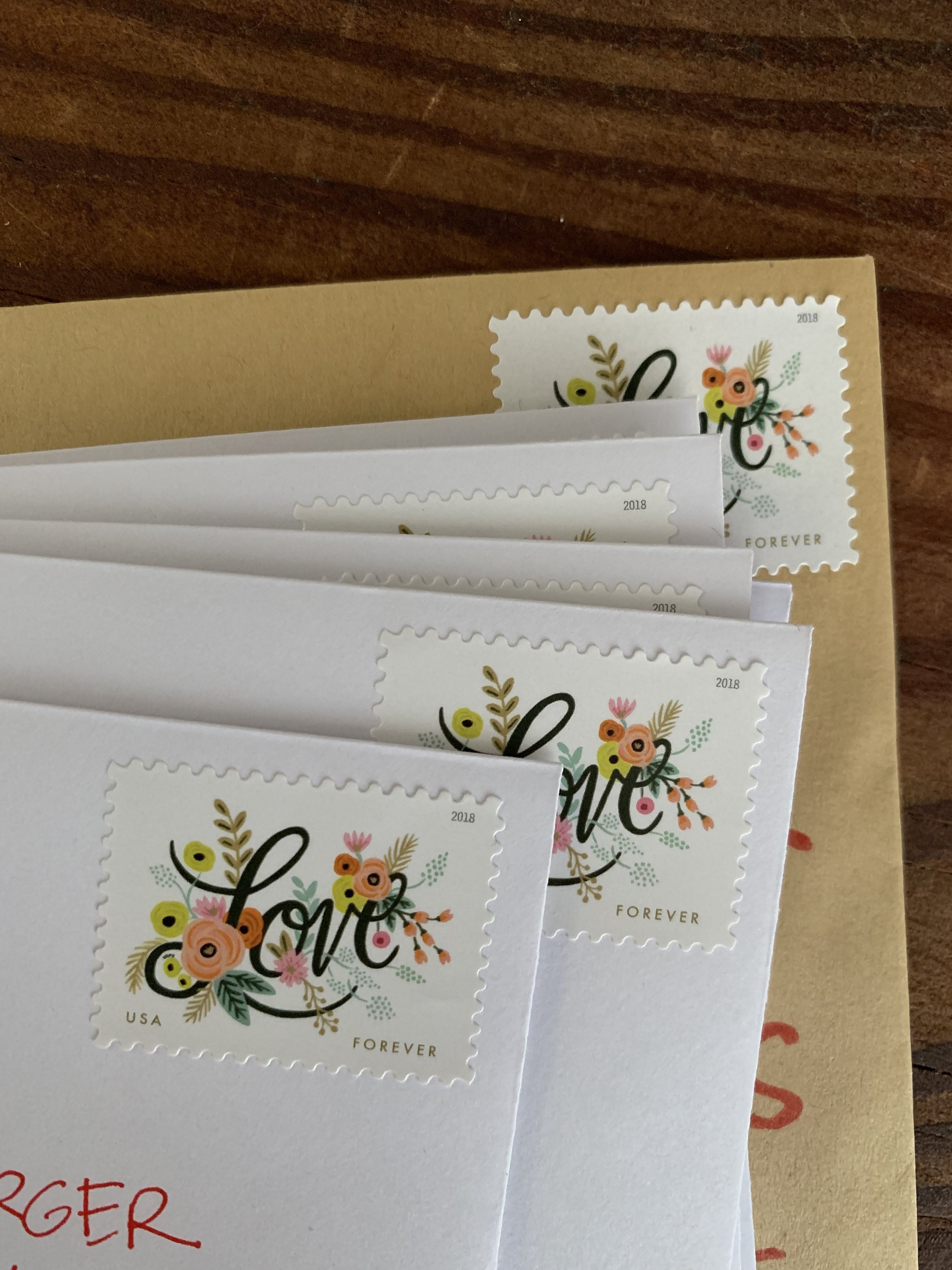 Rifle Paper Co stamps are perfect for this occasion!