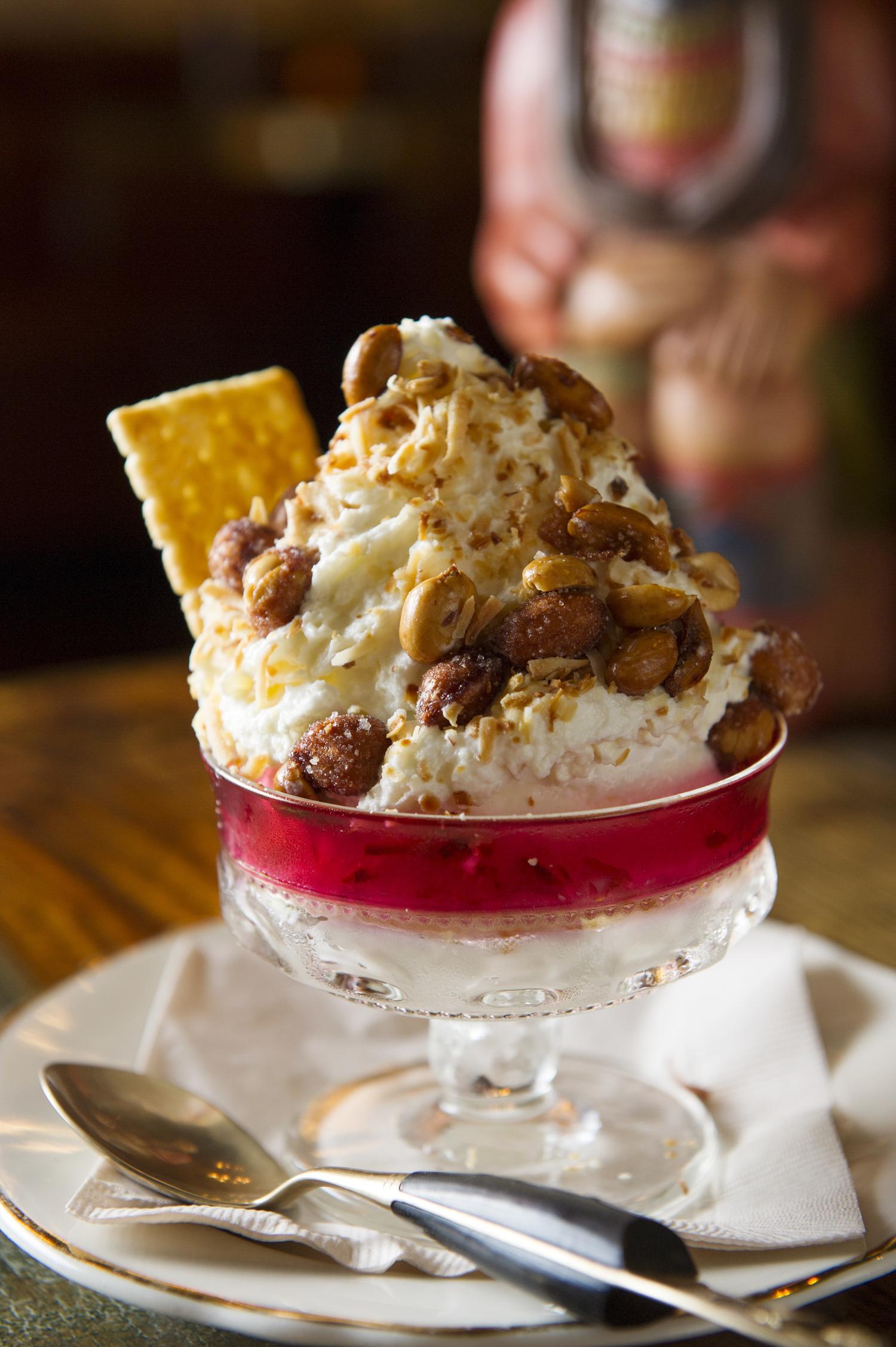 Coconut Ice Cream Sundae