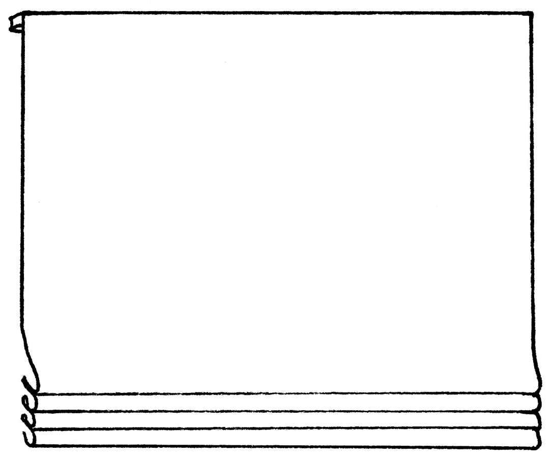Flat Roman: hangs flat when in down position