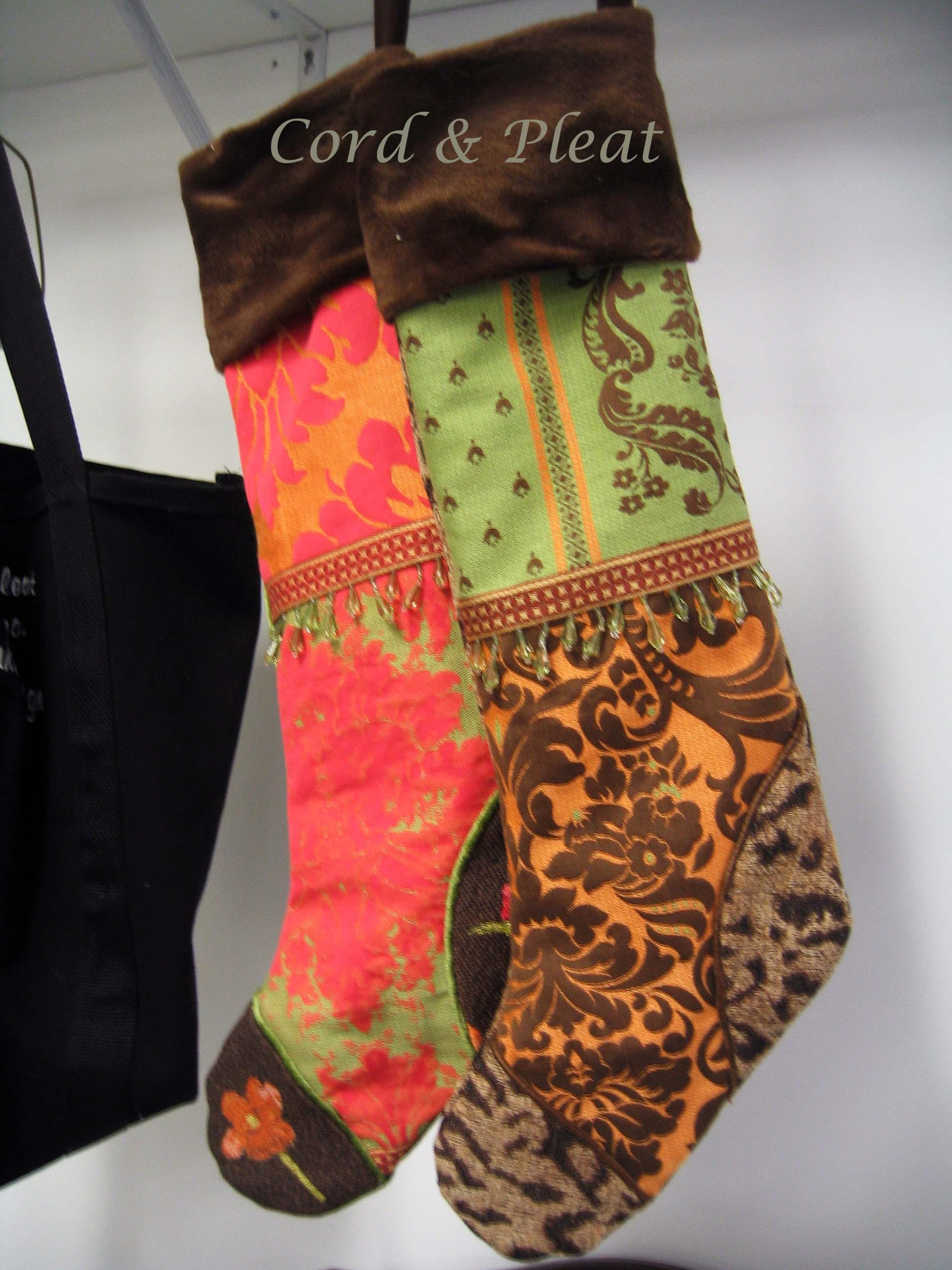 Custom Christmas stockings!