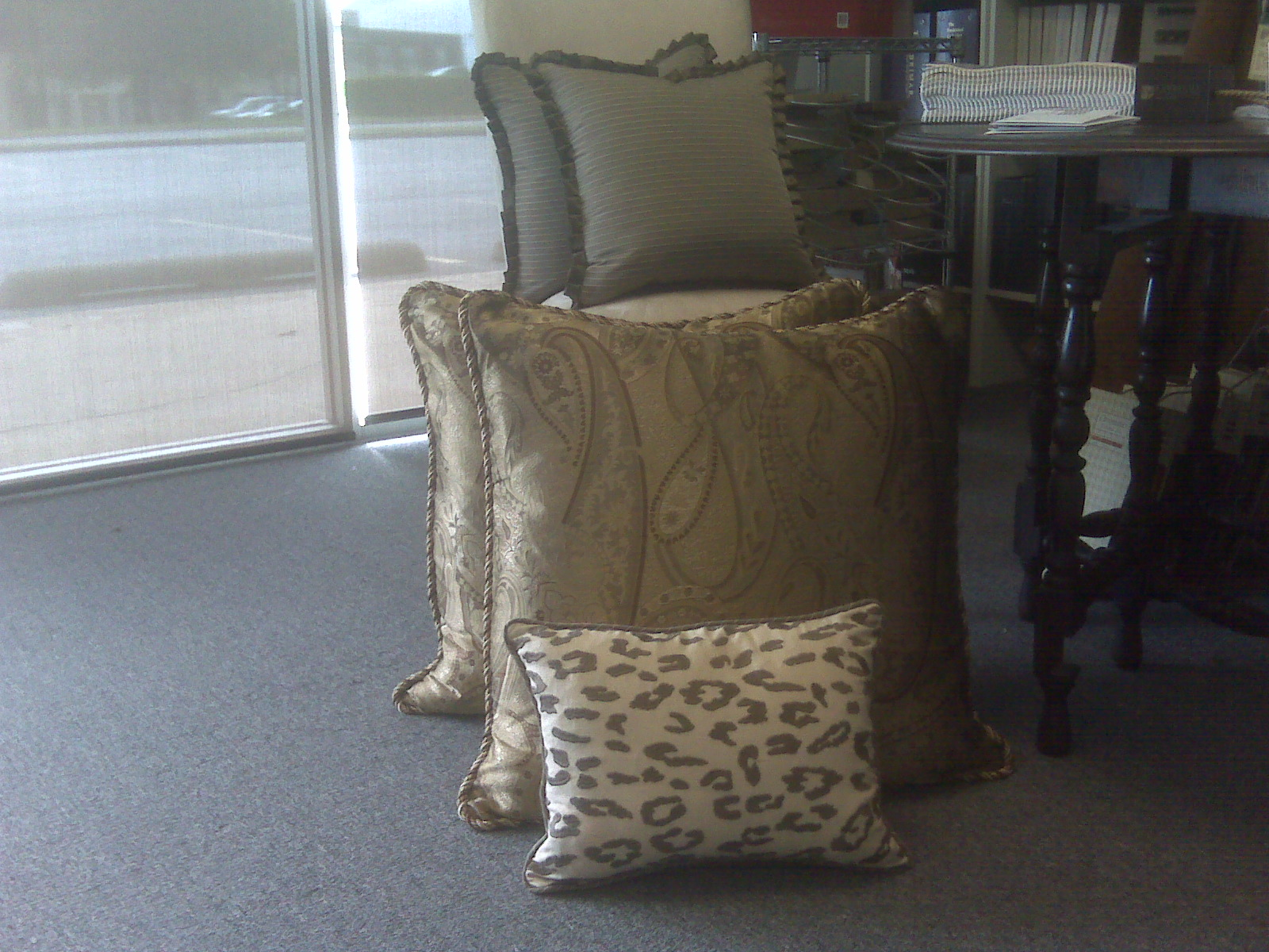 Euro Shams & Pillows for Client's Bed
