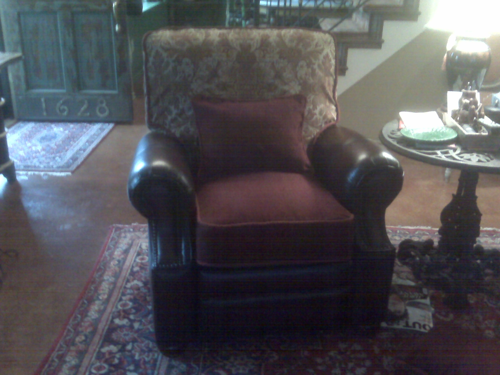 Slipcovered cushions on recliner chairs & Accent Pillow