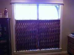 We did cafe curtains in the entry and kitchen.