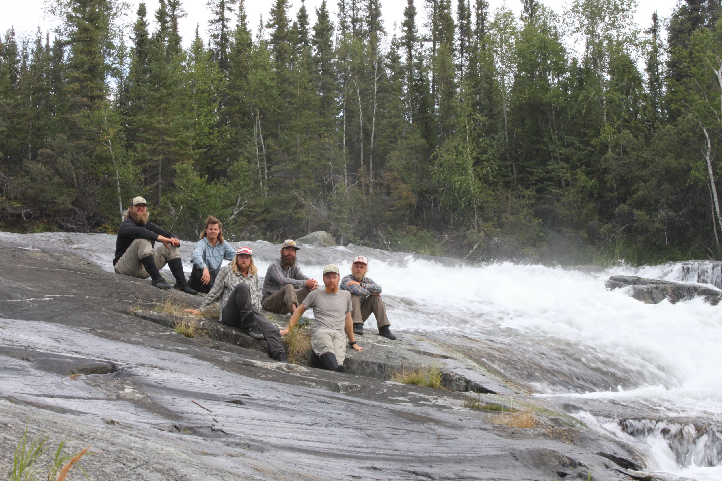 The crew on the Marian River, Northwest TERRITORIES, Canada