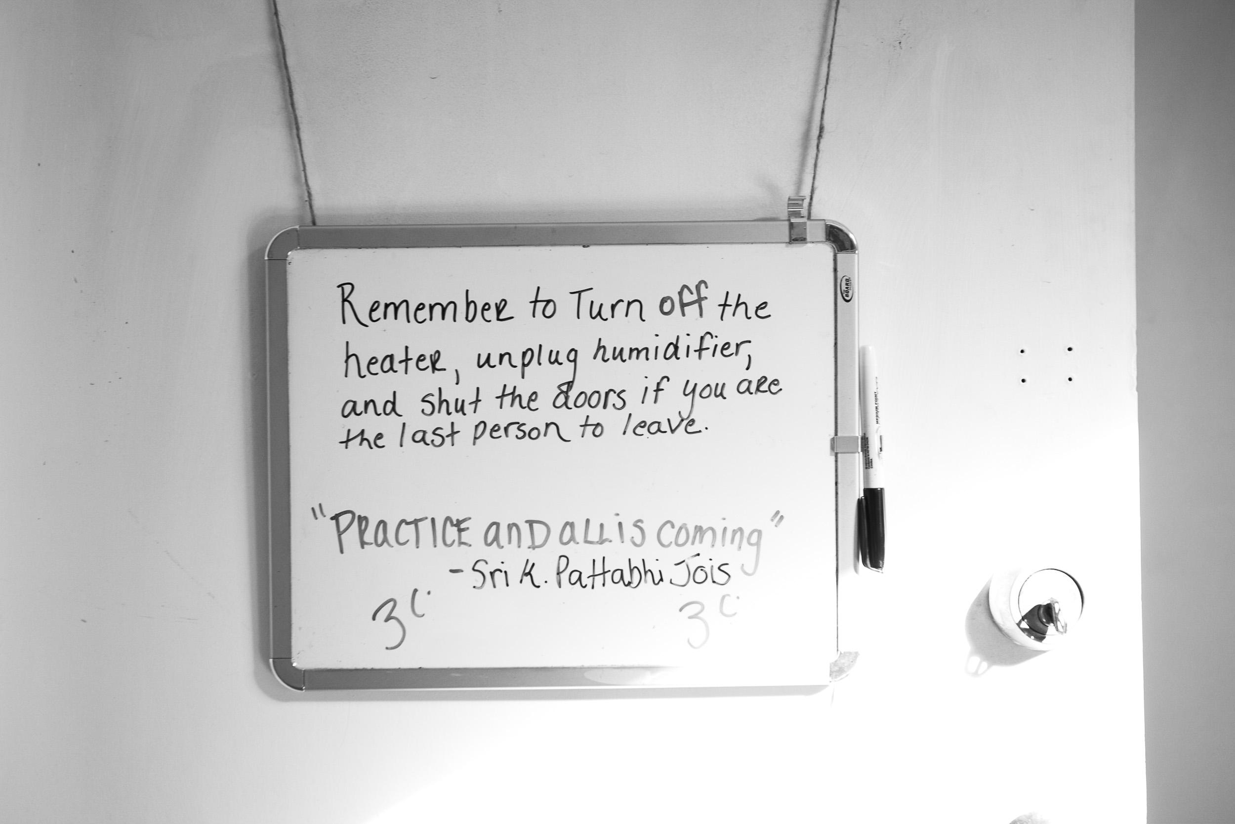 quote by the late master Guruji Sri K. Pattabhi Jois