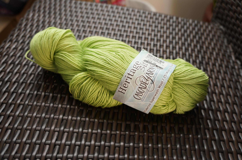 "Cascade Heritage Silk, in ""Citron"""