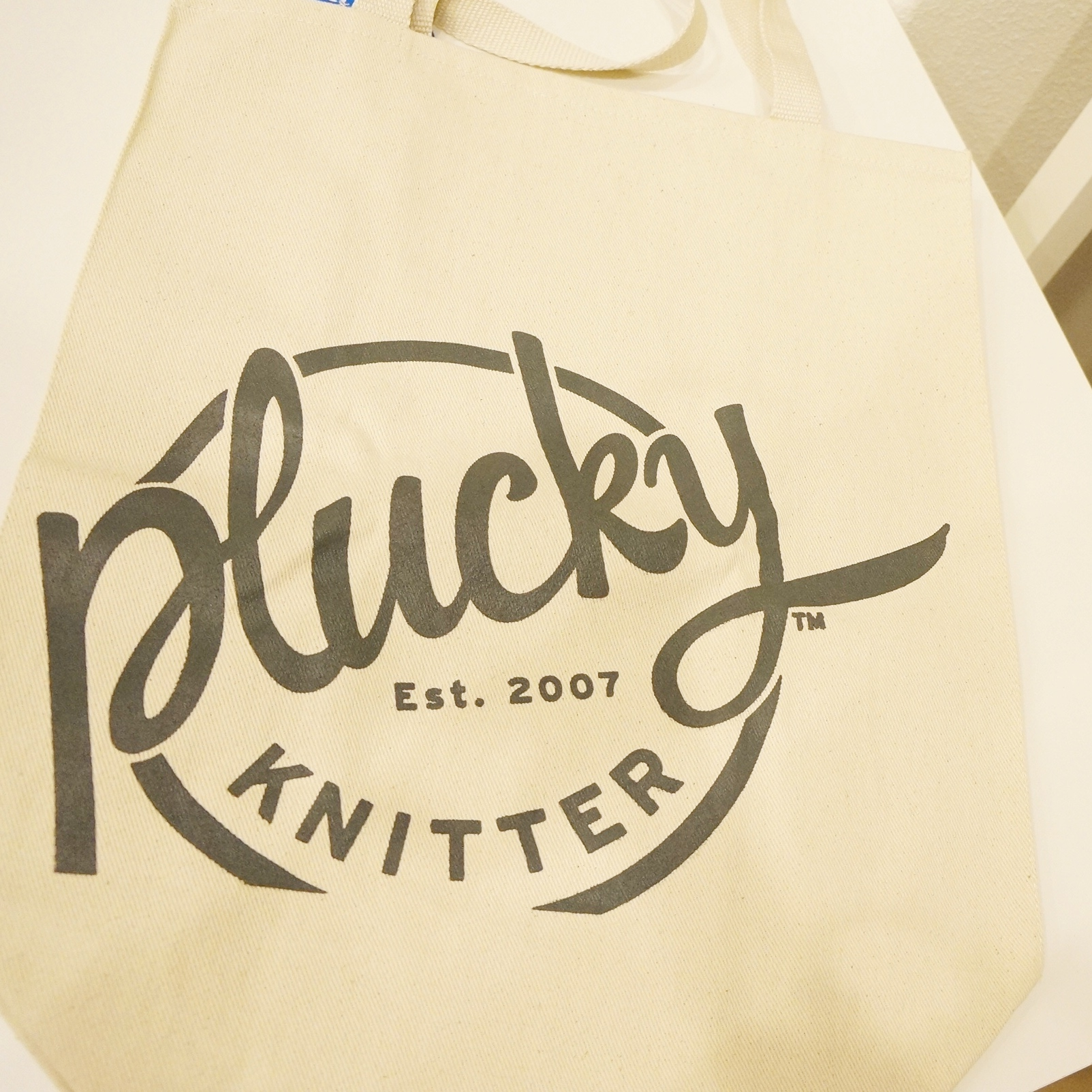 New tote bag from the Plucky Knitter!