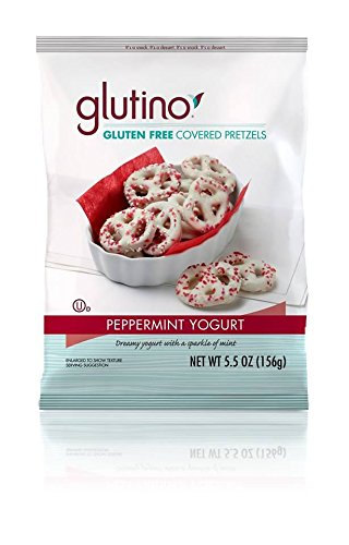 Glutino Peppermint Yogurt Covered Pretzels