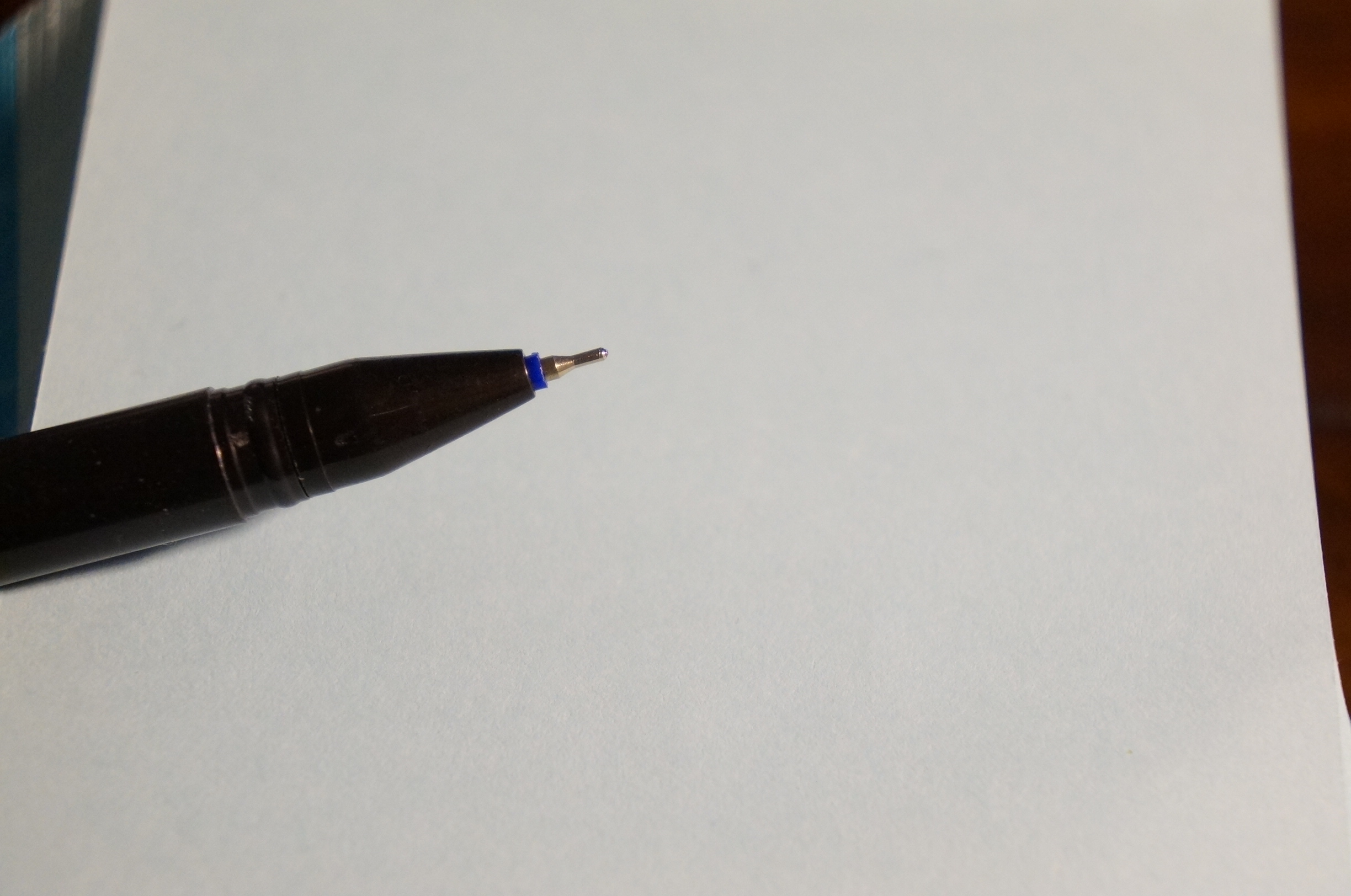 The complimentary pen.