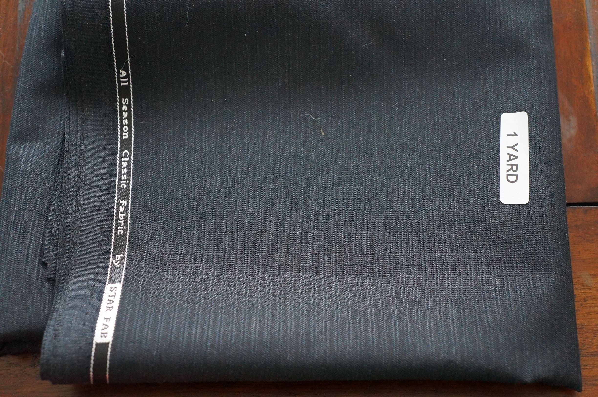 Pinstripe Suiting - ML229491 - Dark Grey-per yard