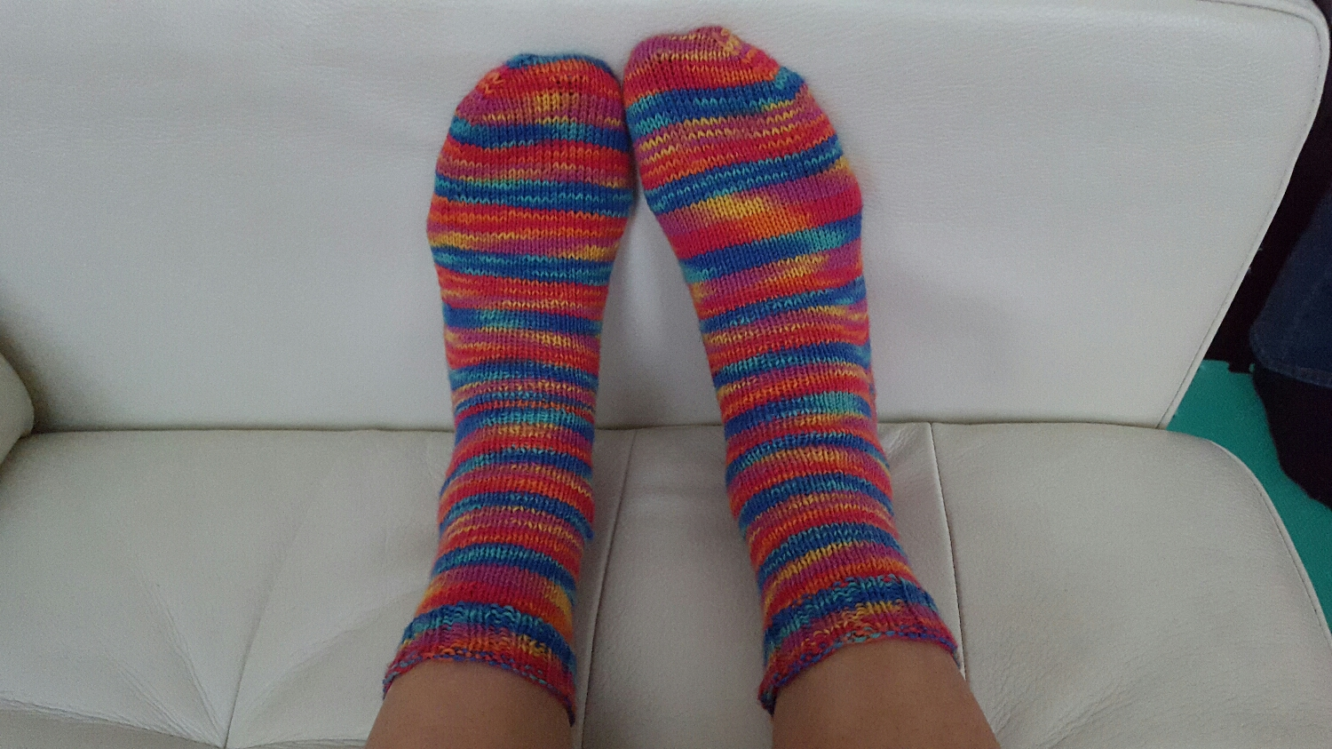 Plain socks in Regia sock yarn.