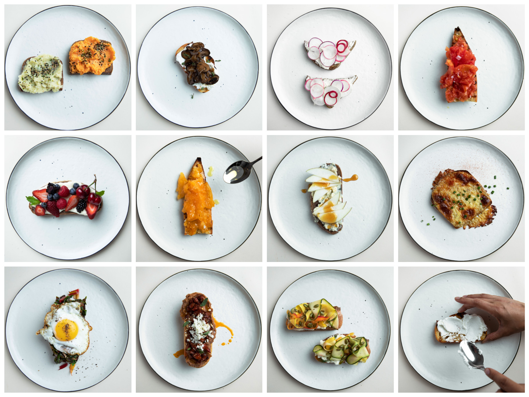 "Yummly - ""10 Takes on Toast,"" shot by Luke Atwood-Abiol"