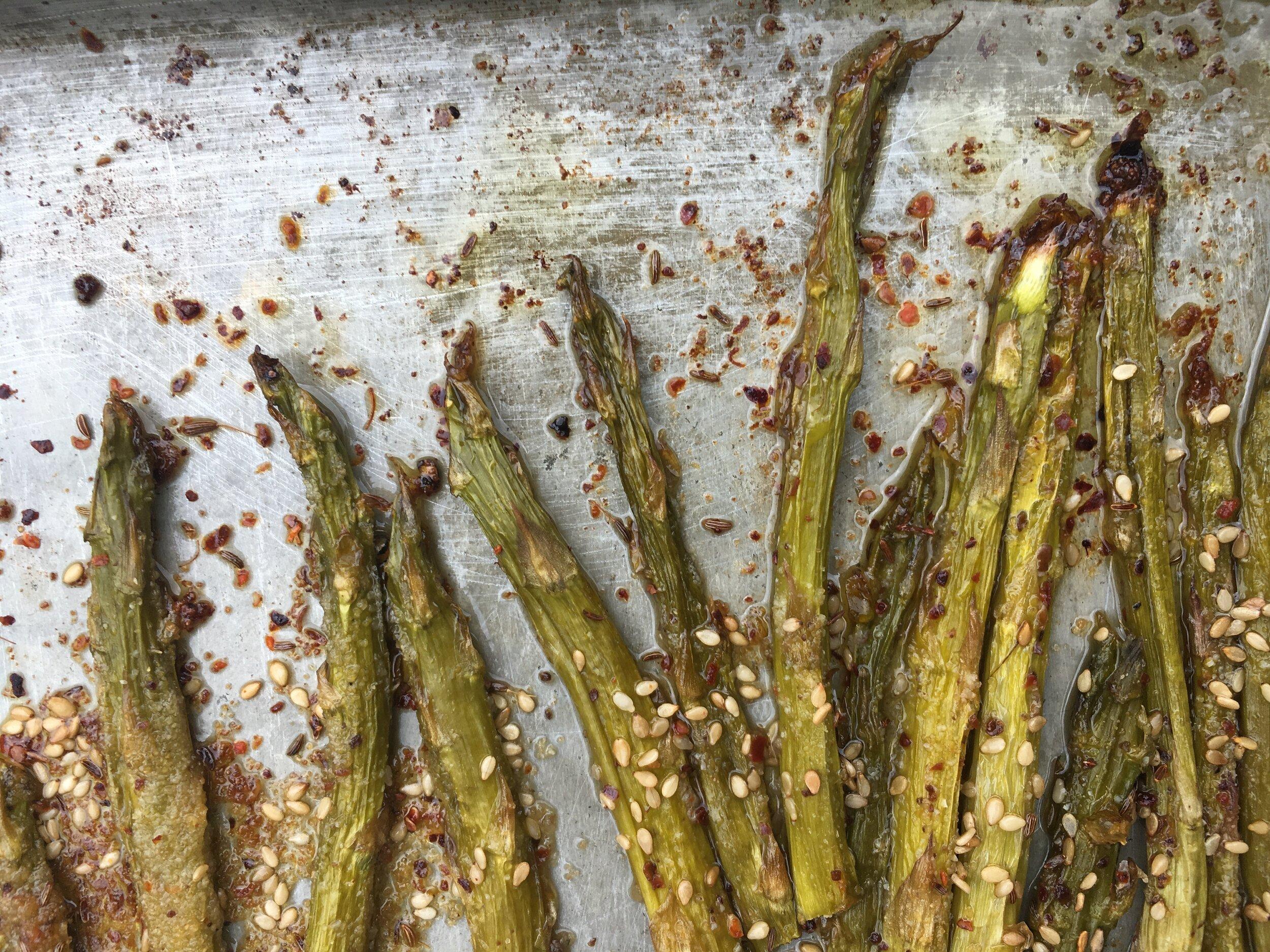 Stalk Up On Lemony Sumac Roasted Asparagus