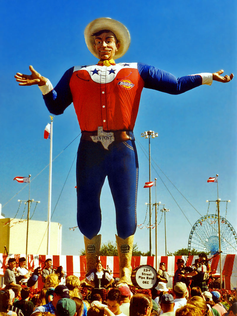 Big Tex, mascot of the annual State Fair of Texas