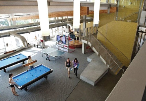 Residence hall common area at UC Davis