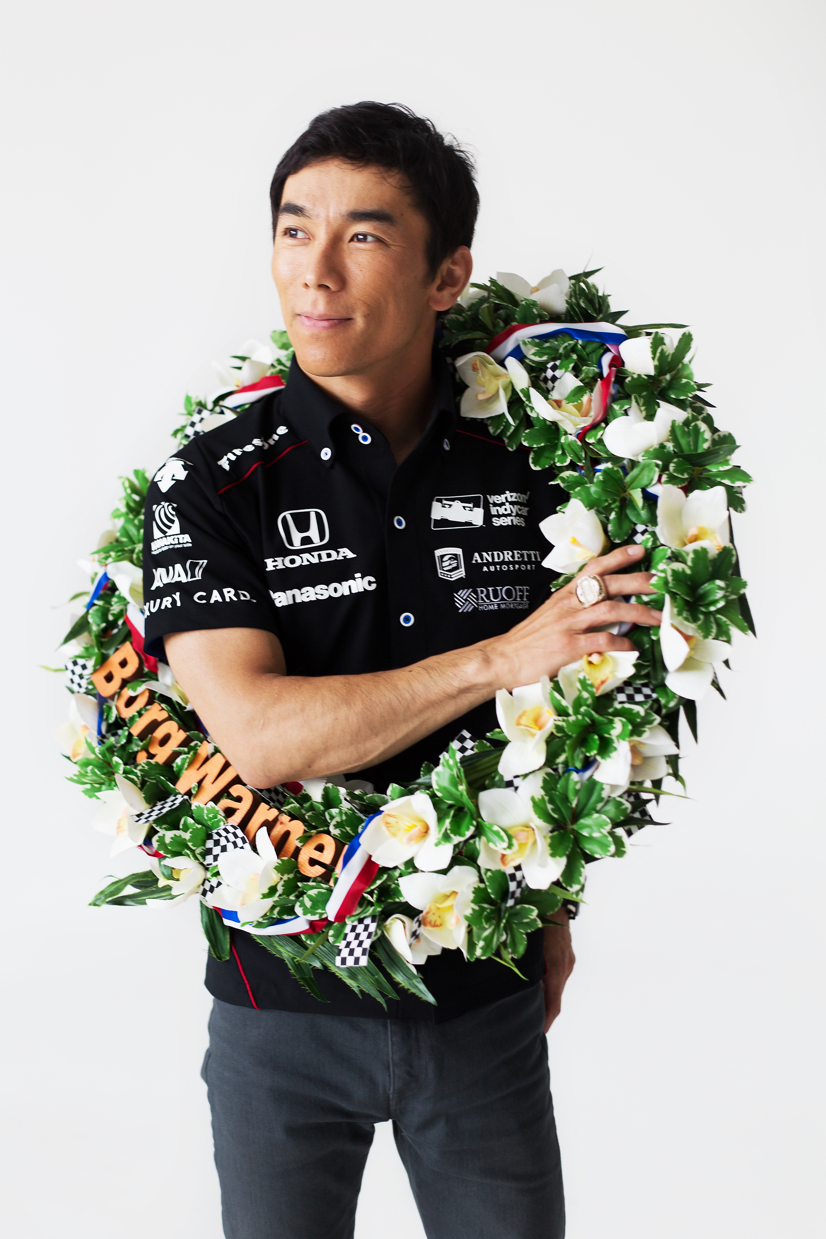 IndyCar driver and 2017 Indianapolis 500 winner Takuma Sato of Andretti Autosport is photographed at The Players' Tribune on May 30, 2017 in New York, New York. (Photo by Bryan Bennett/The Players' Tribune)