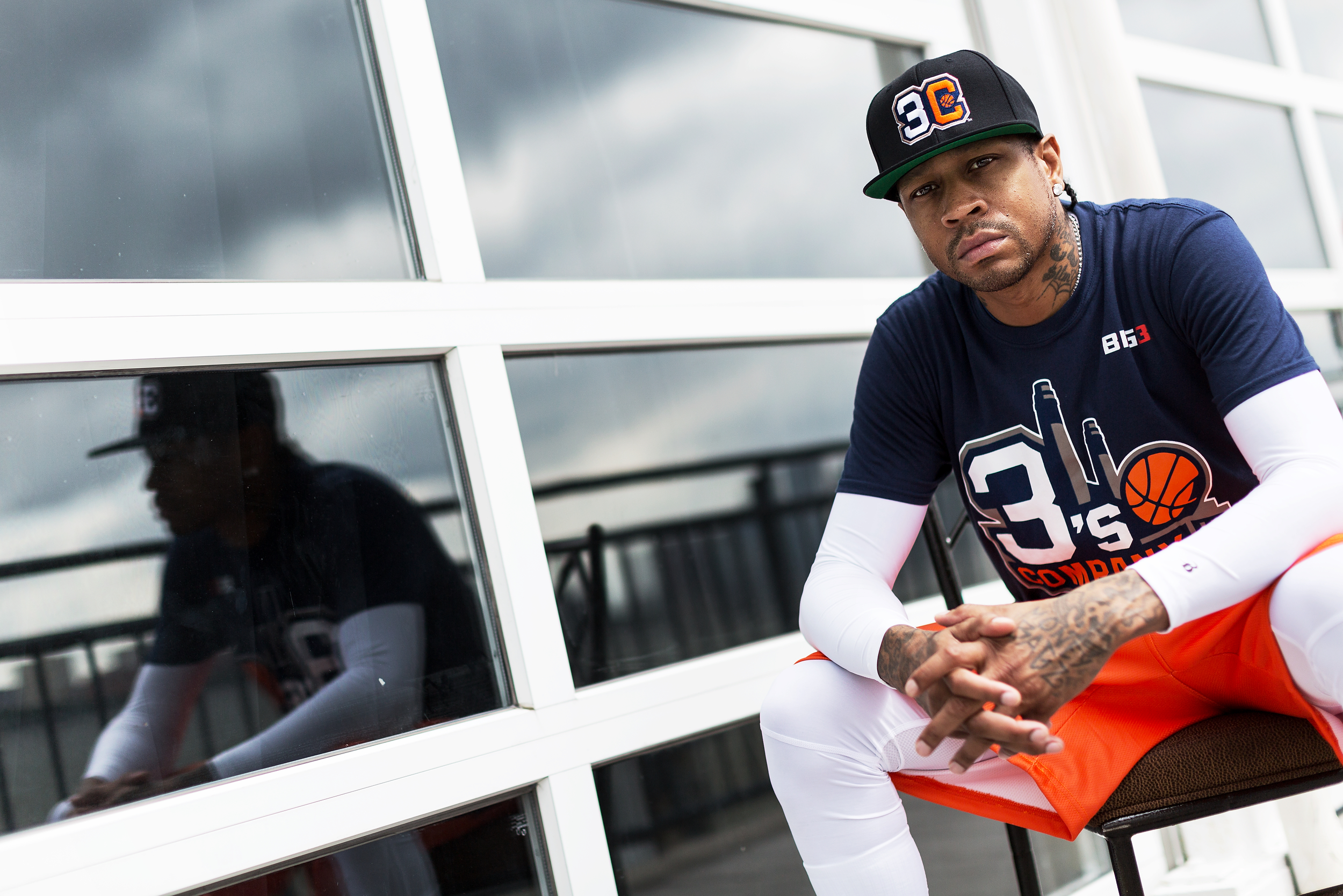 Former NBA player Allen Iverson is photographed at the BIG3 media day at Chelsea Piers on June 23, 2017 in New York, N.Y. The BIG3 is a 3-on-3 basketball league made up of many former NBA players and was started by rapper/actor Ice Cube and entertainment executive Jeff Kwatinetz. (Photo by Bryan Bennett/The Players' Tribune)