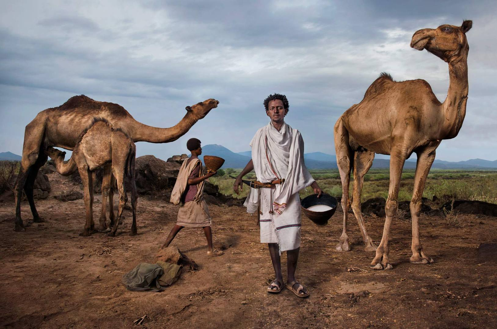 'The Chieftain' - Roba Bulga Jilo, an Ethiopian food activist, he is a member of the Karrayyu tribe of nomadic herders, with whom he has established a Slow Food Presidium to safeguard camel milk, a product with a symbolic value in Ethiopia