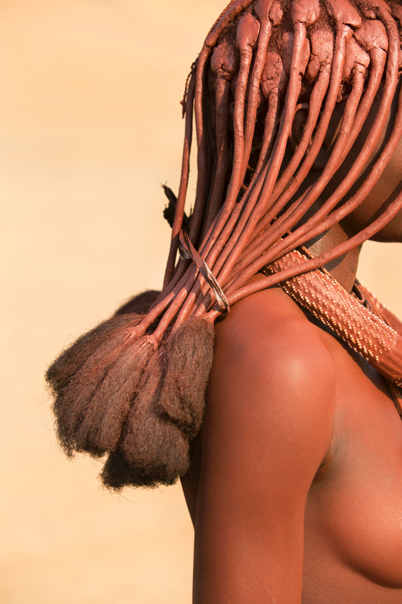 Travel Photographer of the Year overall winner, Philip Lee Harvey, UK Detail of Himba tribeswoman's hair, north-west Namibia Photograph: Philip Lee Harvey/TPOTY