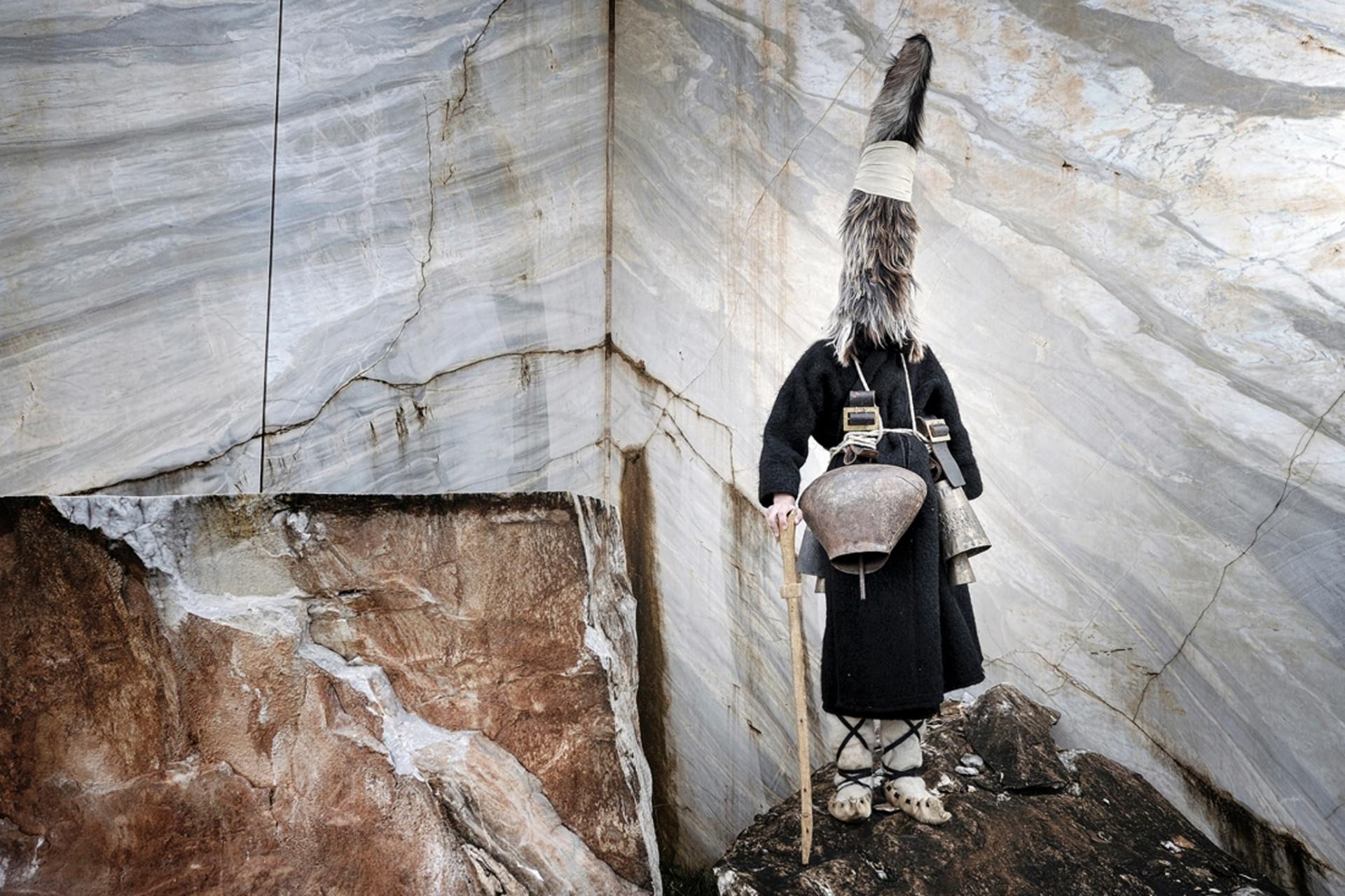 Tribes runner-up, Niko Vavdinoudis, Greece The old pagan ritual of the bell-bearers in Nikisiana village, Kavala, Greece Photograph: Niko Vavdinoudis/TPOTY