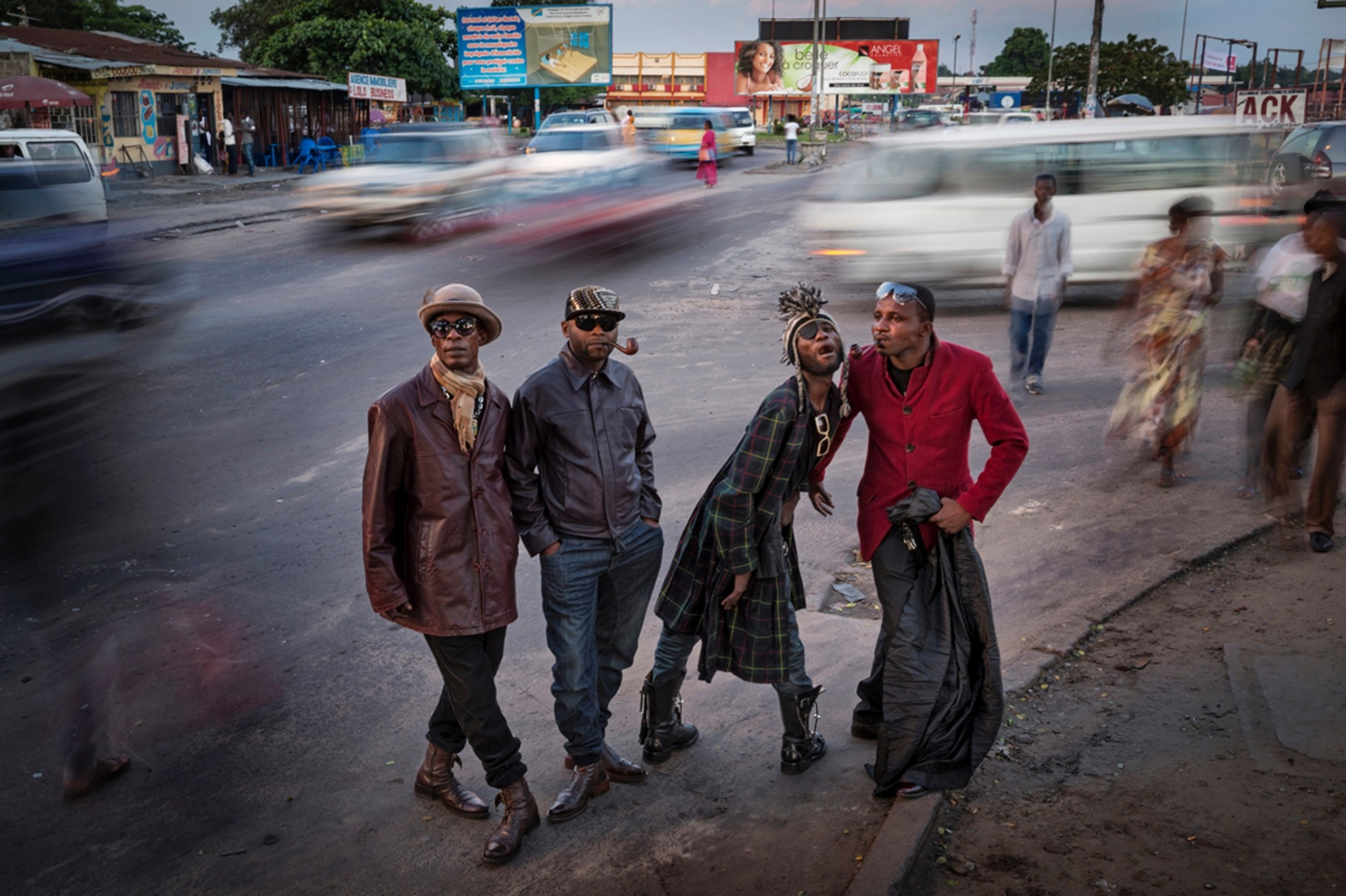 One Moment, commended, Johnny Haglund, Norway 'Les Sapeurs ', Kinshasa, Democratic Republic of Congo Photograph: Johnny Haglund/TPOTY
