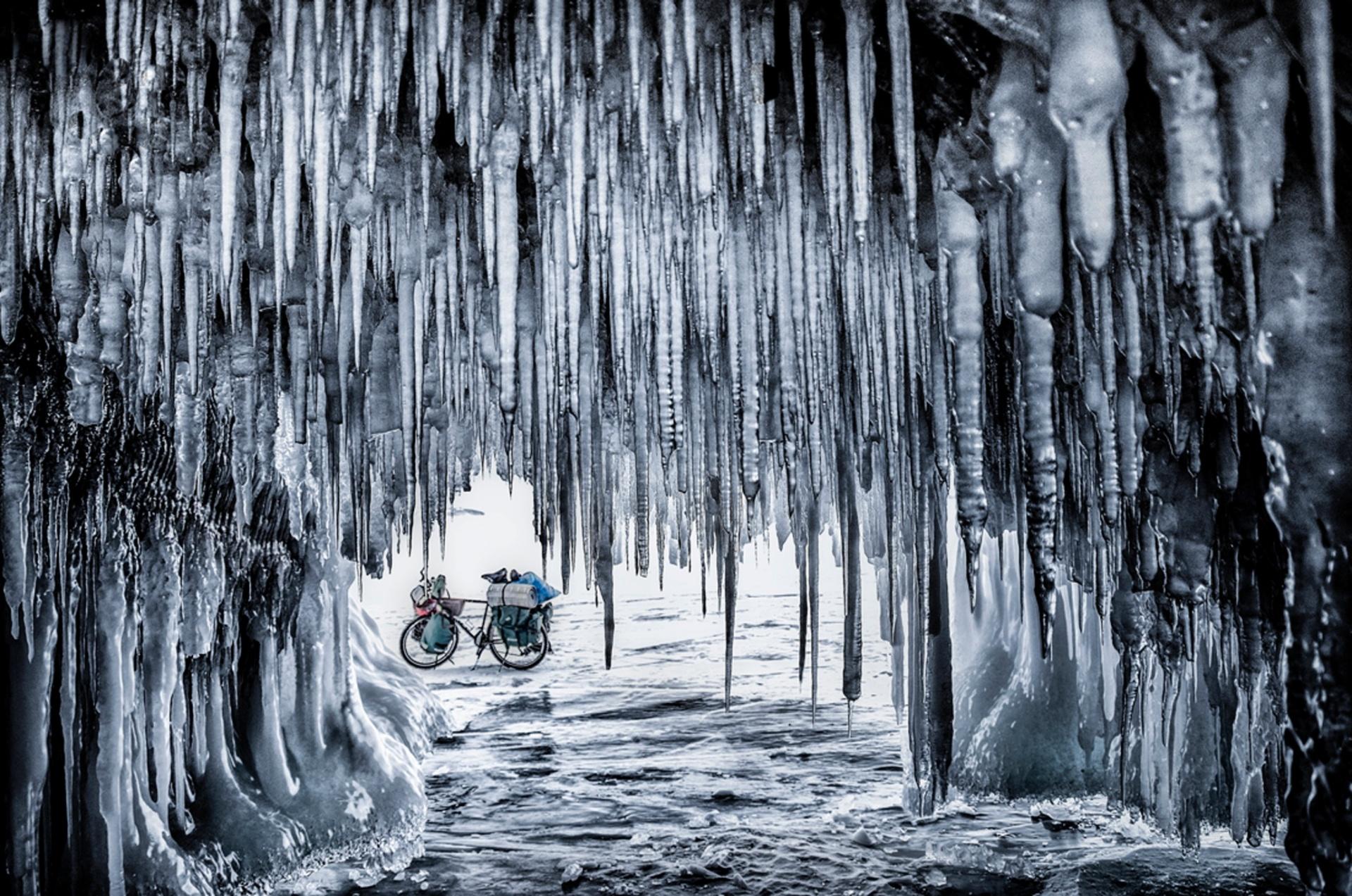Earth, Air, Fire, Water, winner, best single image, Jakub Rybicki, Poland On a 800km bicycle journey across Baikal Lake, Ogoy Island, Russia Photograph: Jakub Rybicki/TPOTY