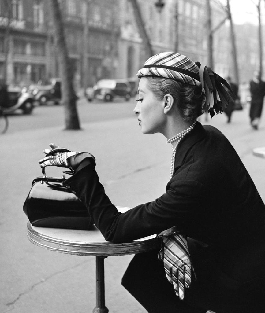 Capucine by Georges Dambier - Elle, Boulevard de la Madeleine, Paris, 1952.
