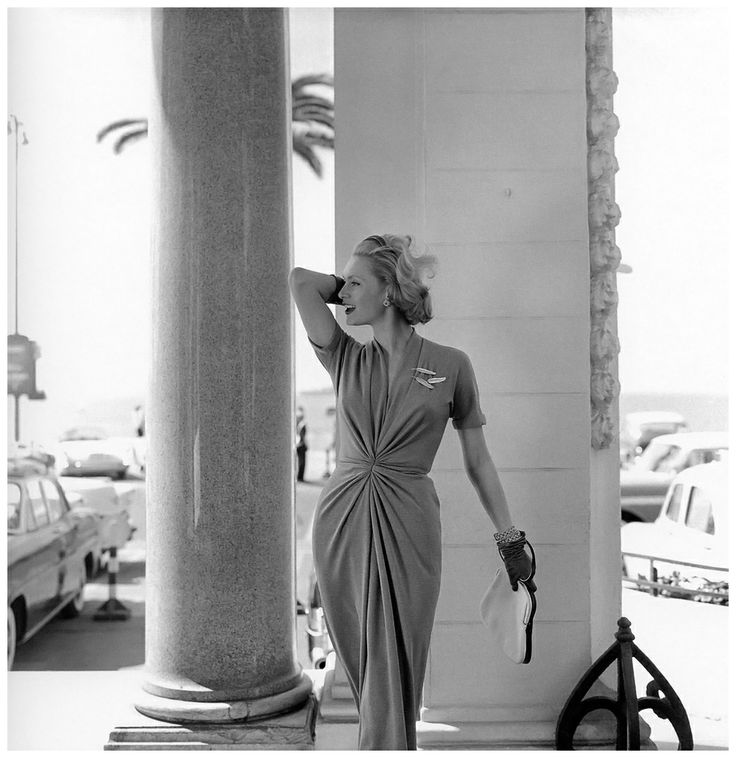 Ghislaine Arsac at Carlton Hotel, Cannes, photo by Georges Dambier, 1957