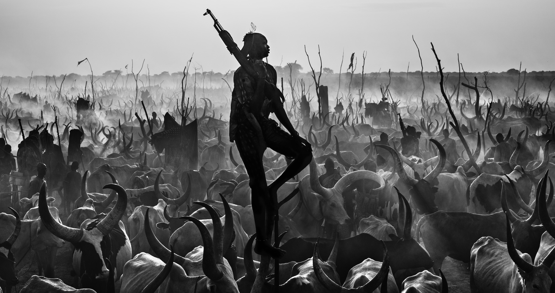 David Yarrow - The Proud Nightwatchman, Yirol, South Sudan, 2015.