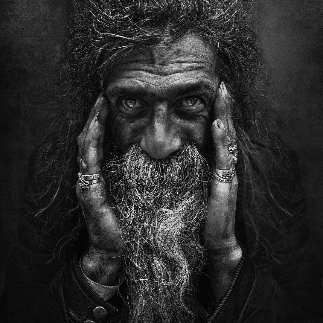 Lee Jeffries, from the Portraits of the Homeless series, 2012