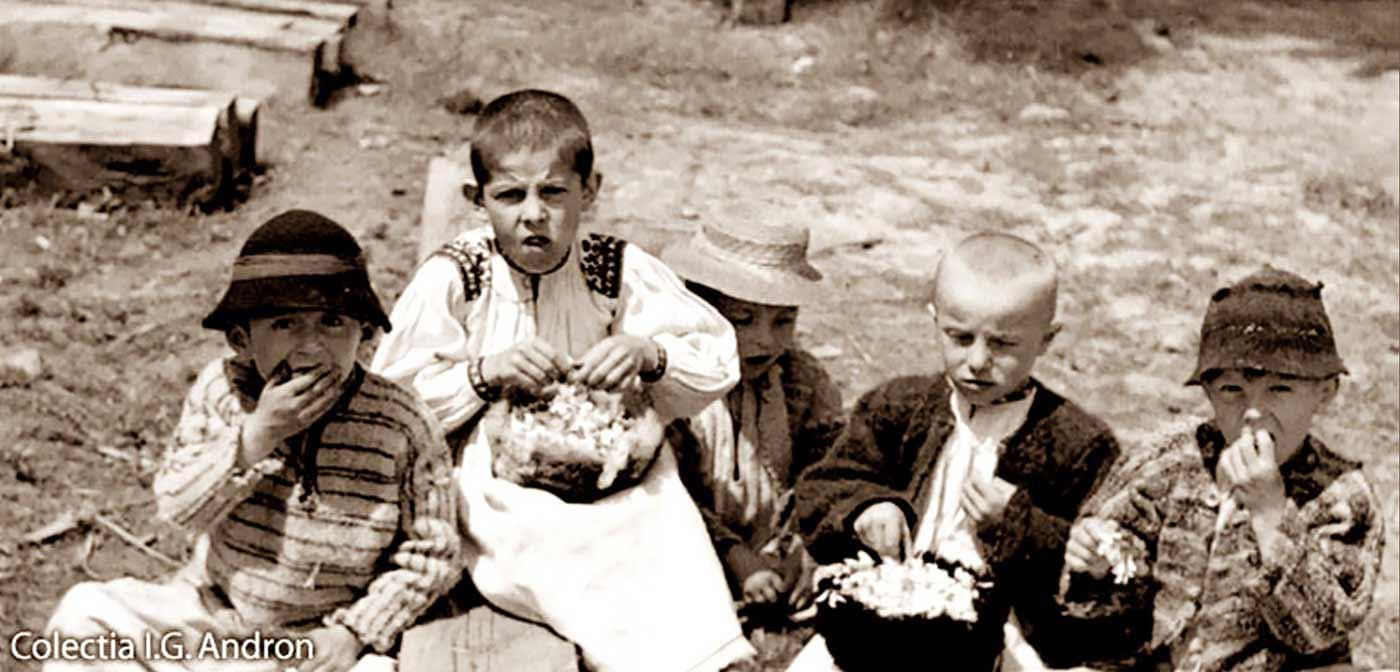"Ionita C. Andron - ""Children Eating Acacia Flowers"" -  photo source"