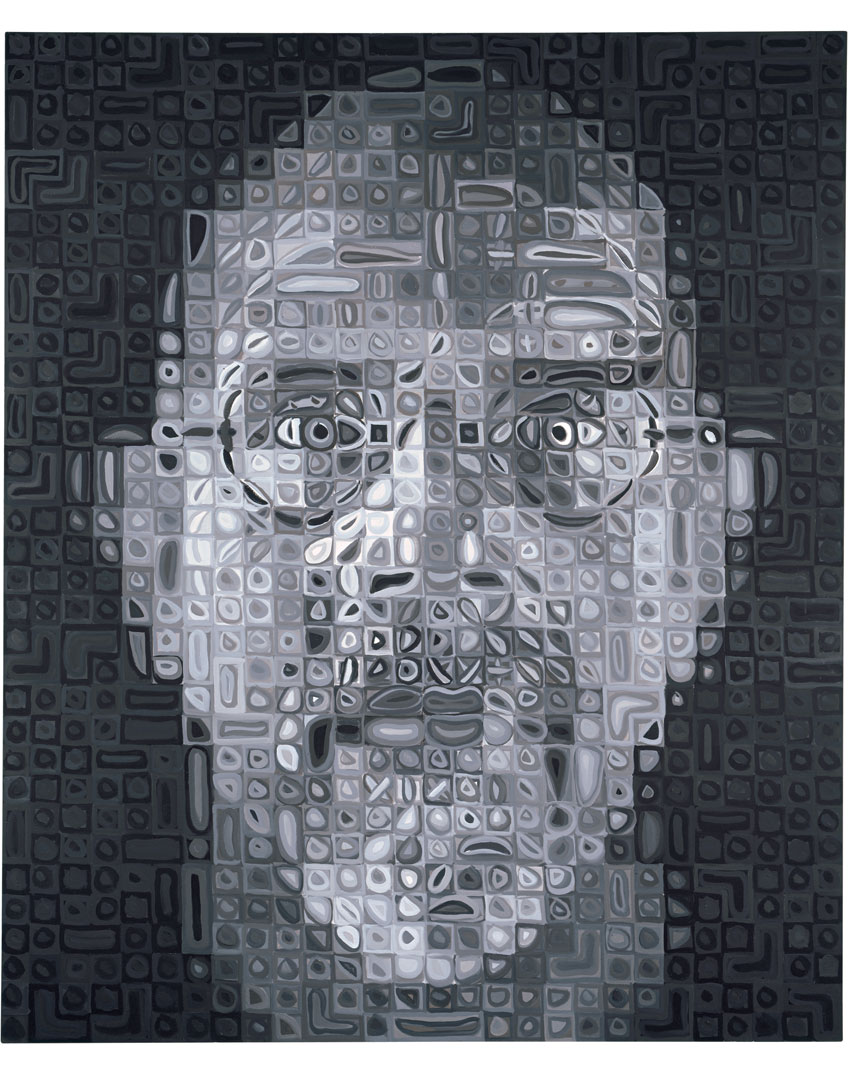 Chuck Close - Self-Portrait , 2006–2007 oil on canvas 72 x 60 in. (182.9 x 152.4 cm), available at chuckclose.com