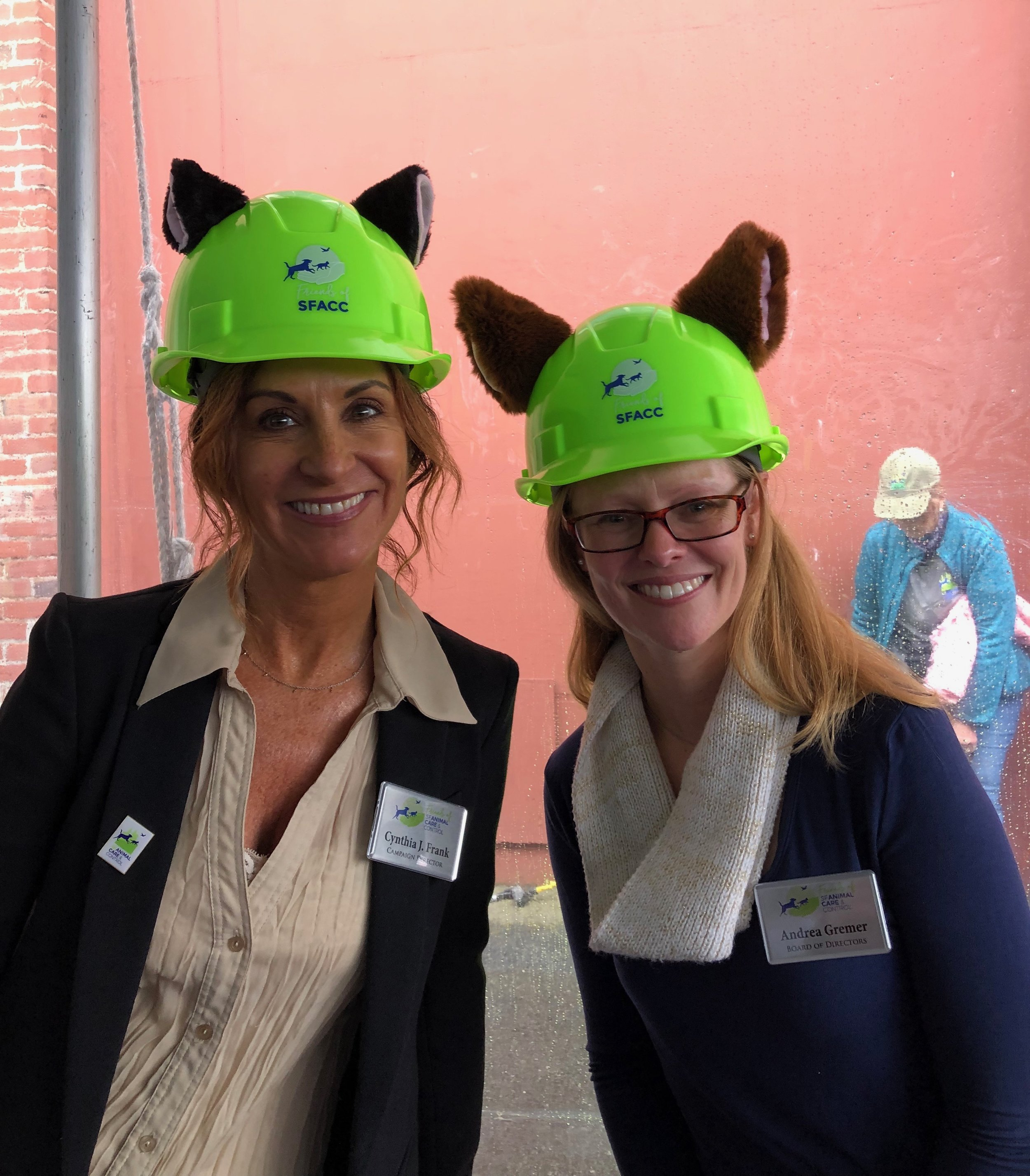 Campaign Director, Cynthia J. Frank and Board Member, Andrea Gremer are all ears.