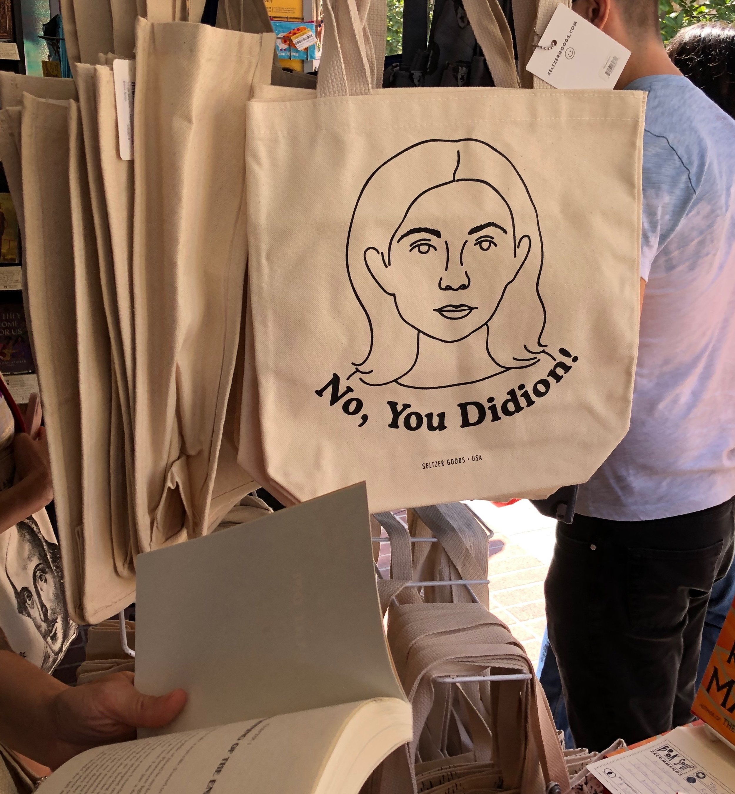 cute bag by  Seltzer Goods  sold at the Book Soup booth
