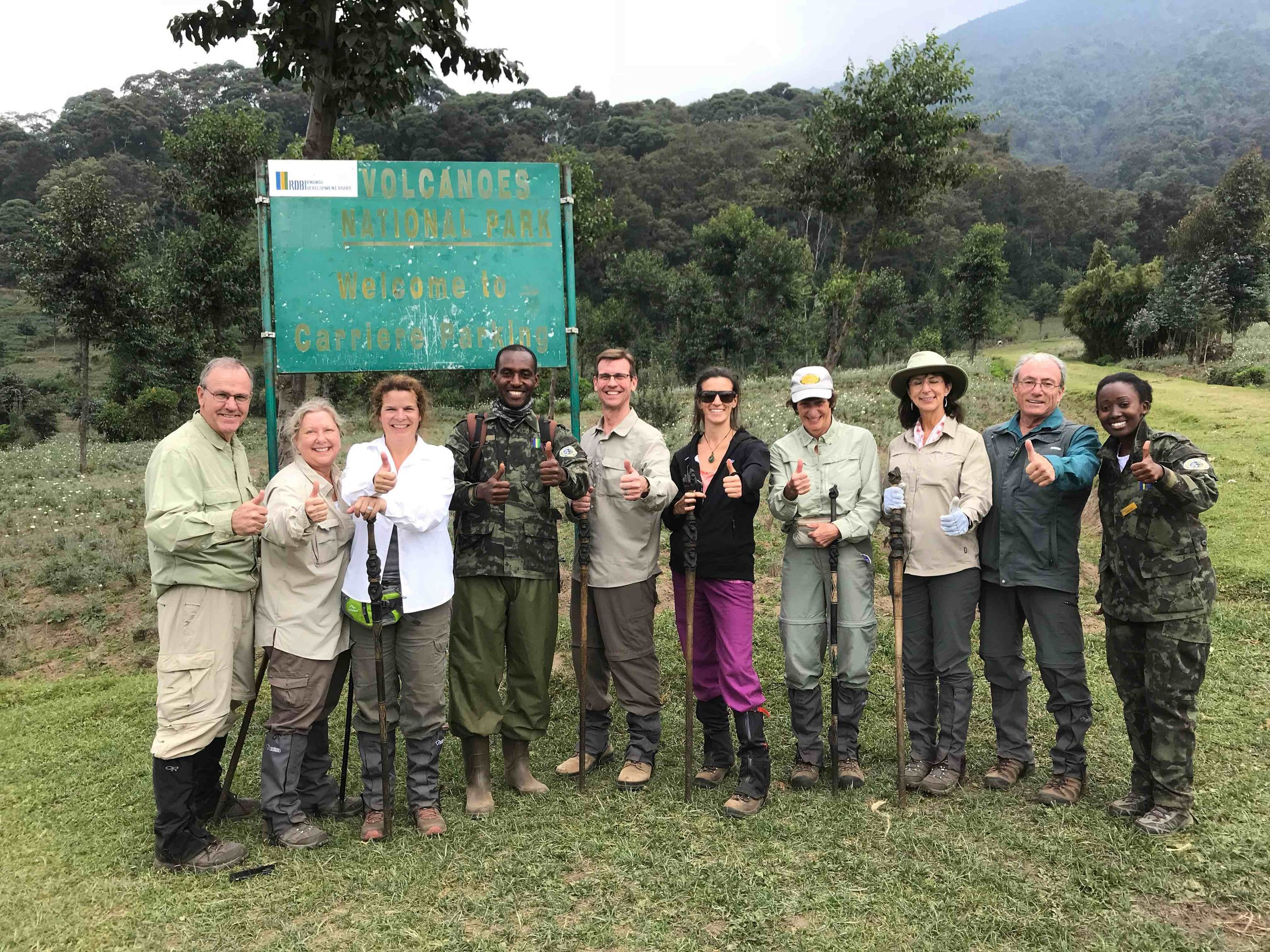 The VETS Adventurers at the conclusion of our second Gorilla Trek!
