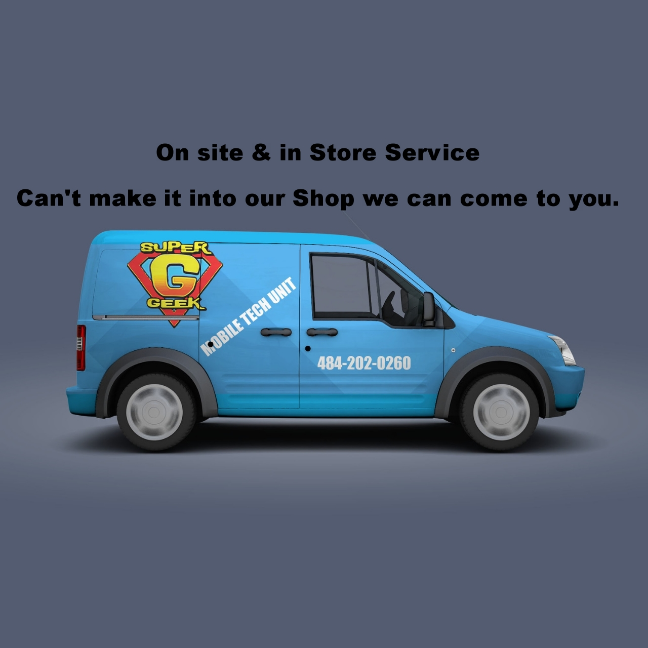 On site &in Store Service   Can't make it into ourShop we can come to you.   Call Now & Save 20% (484-202-0260)