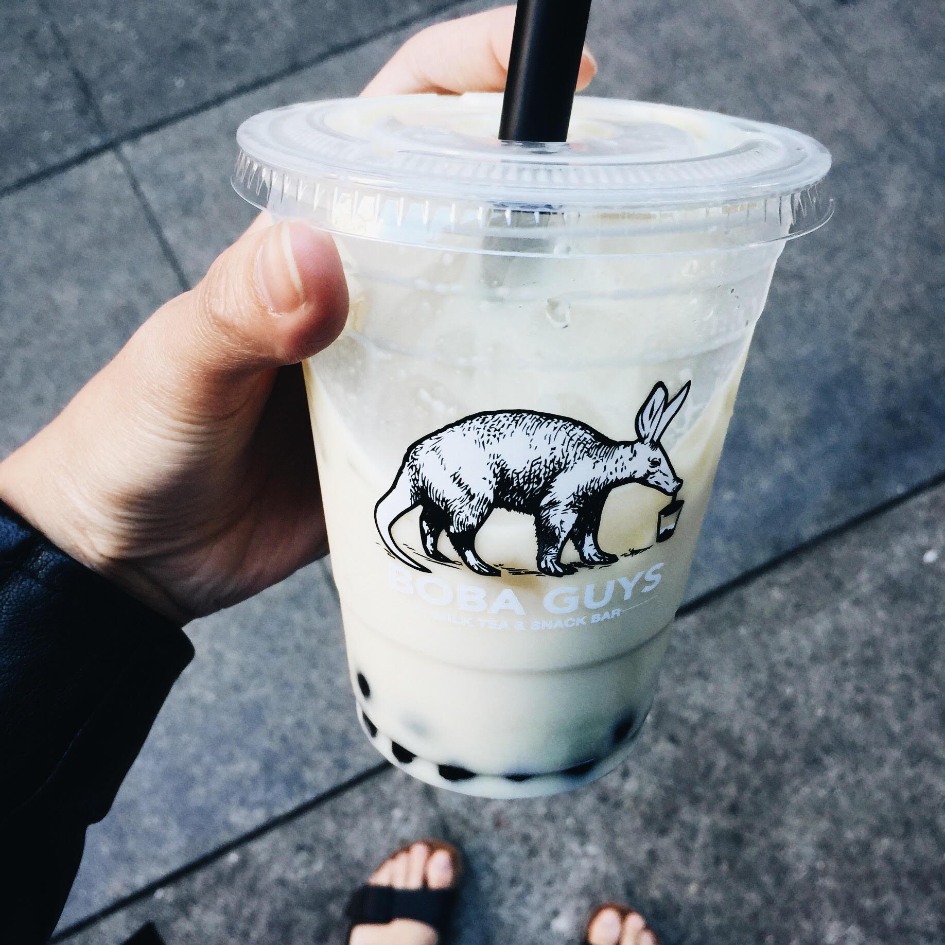 Jasmine milk tea with 75% sugar
