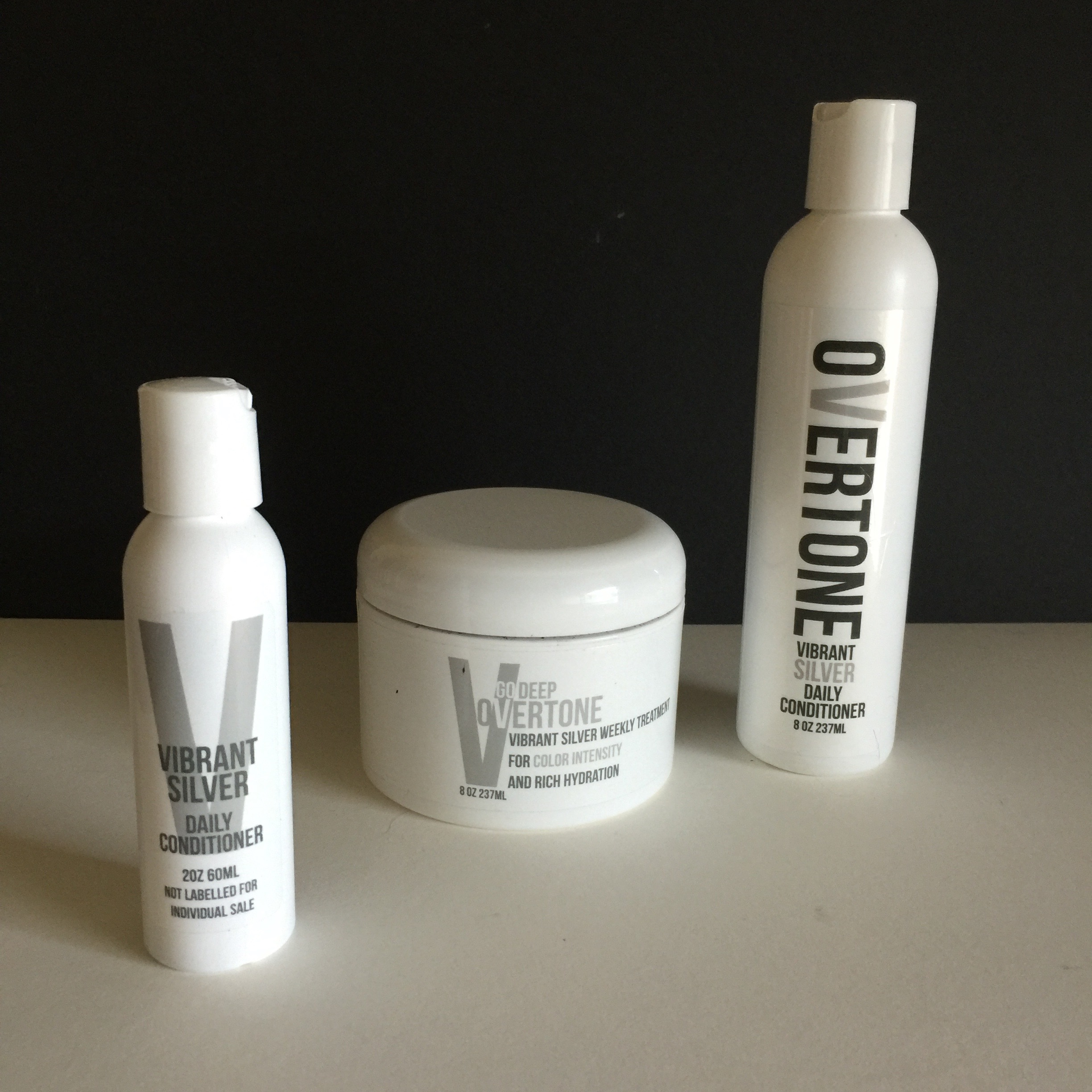 This is a shot of my OVERTONE complete set, I have already used the daily conditioner & weekly treatment