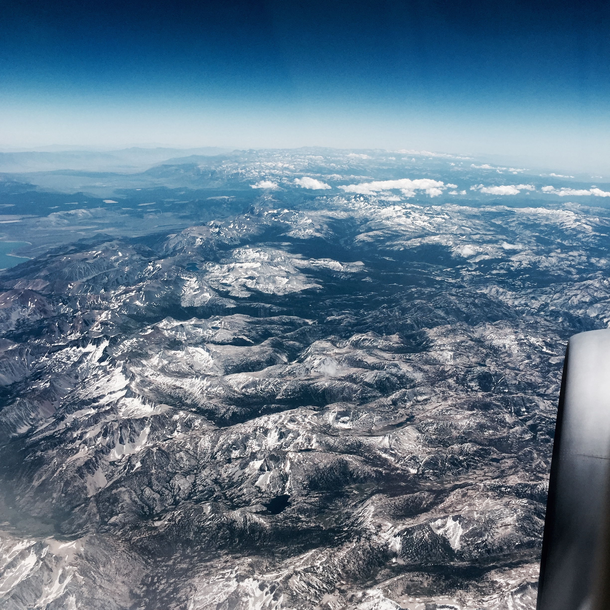When we started flying, the pilot pointed out that there was still snow on the mountains