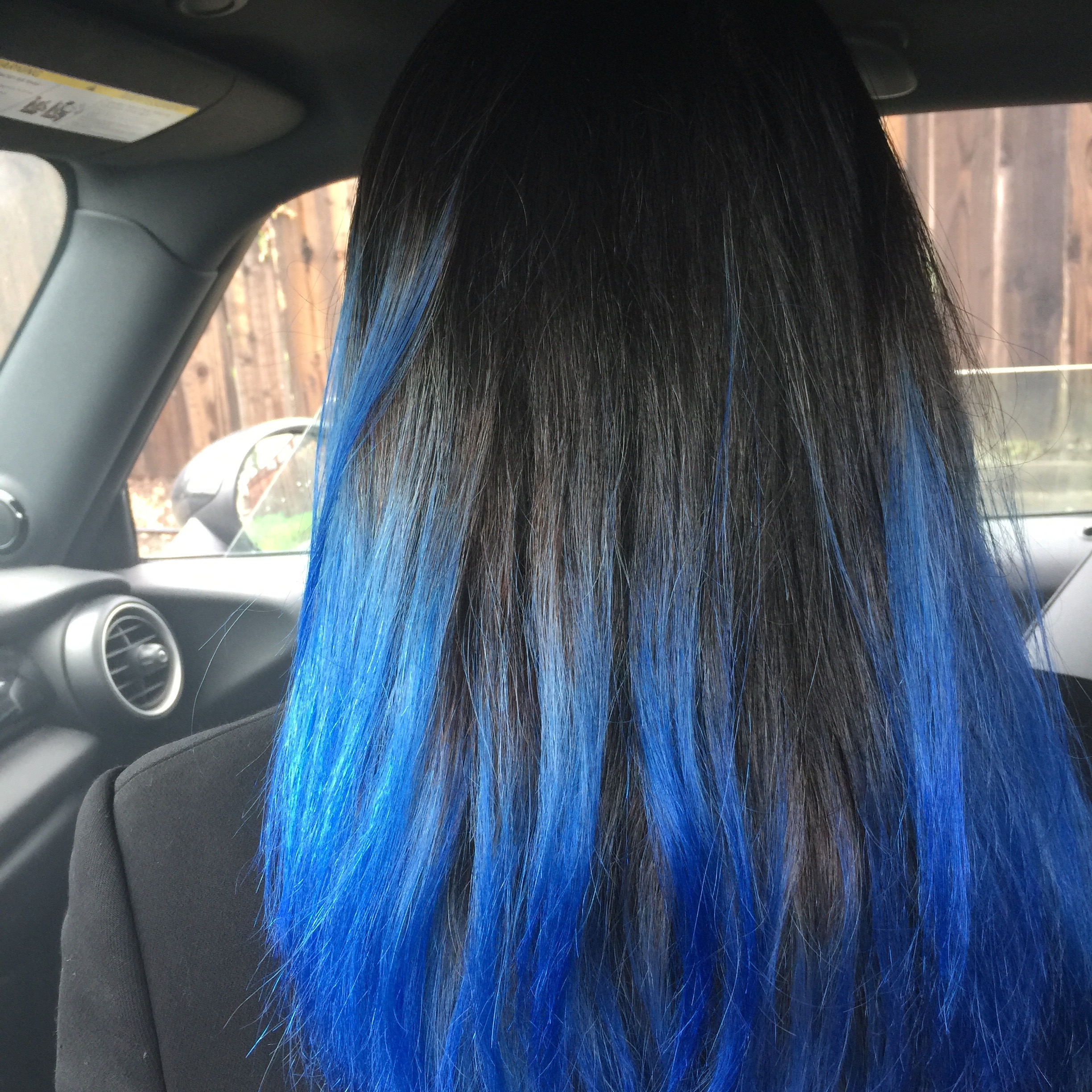 no filter  | I loveee how vibrant the blue color is on my hair, I actually think this is the best out of the three blues on the oVertone site