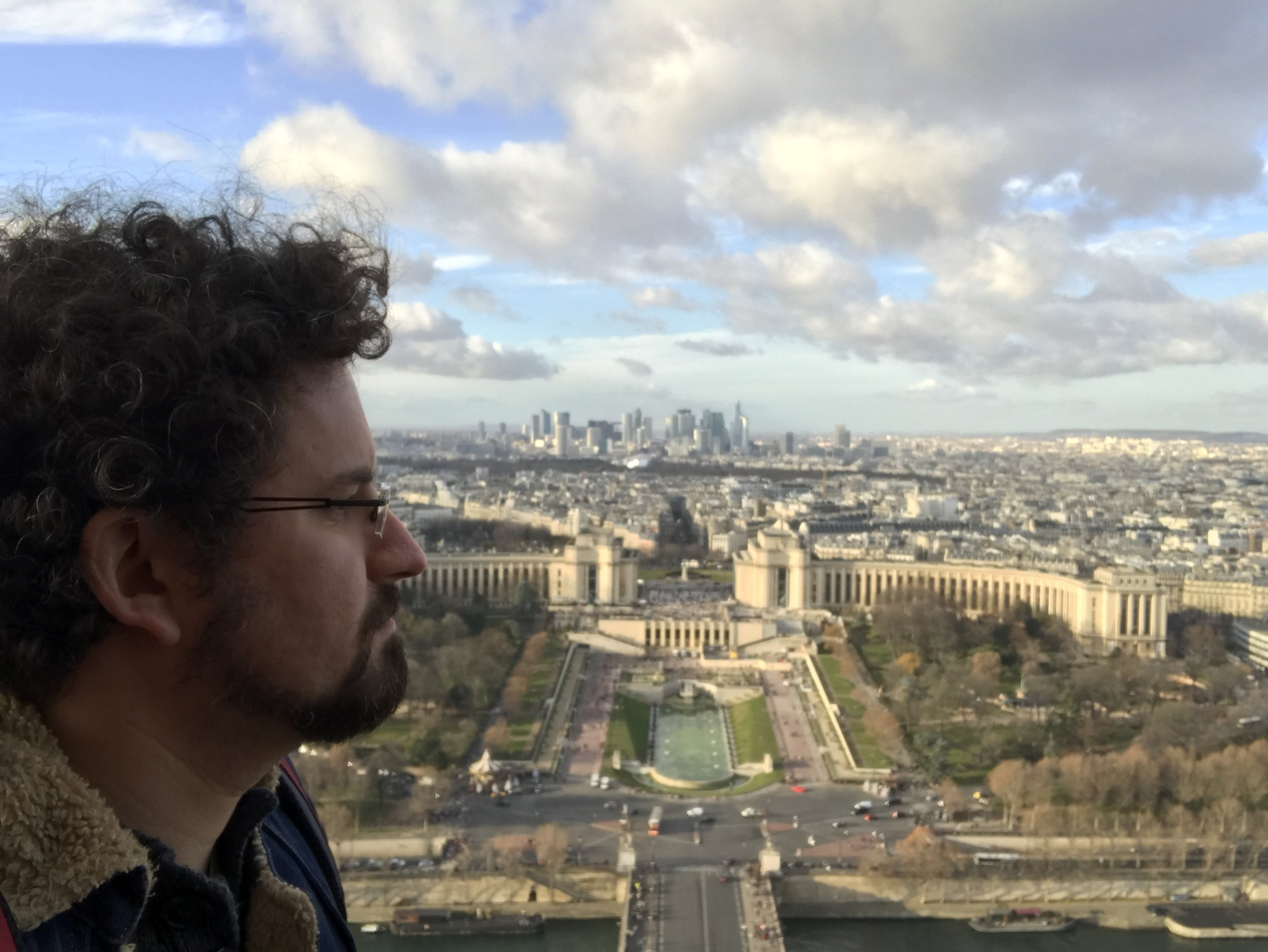 The view from the 2nd floor of the Eiffel Tower