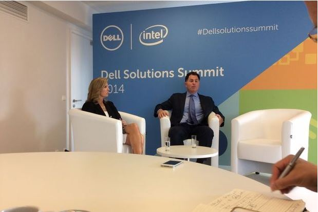 Michael Dell at the Dell Solutions Summit 2014 in Brussels.