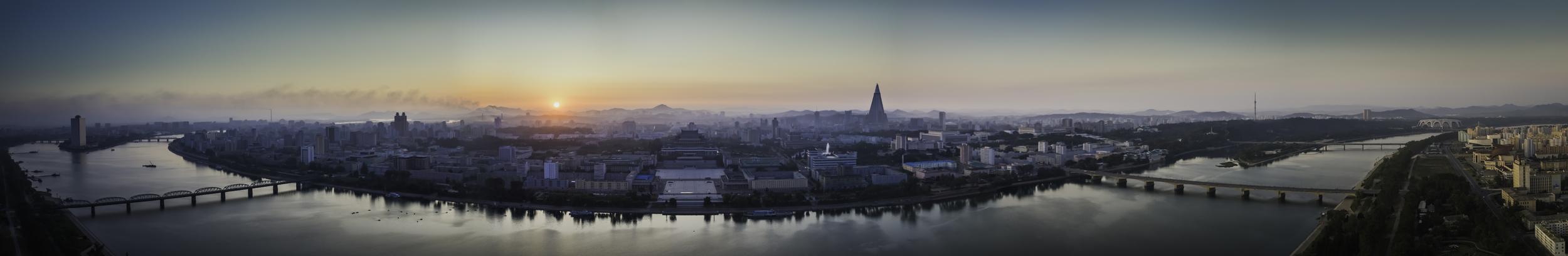 Panoramic view of Pyongyang.