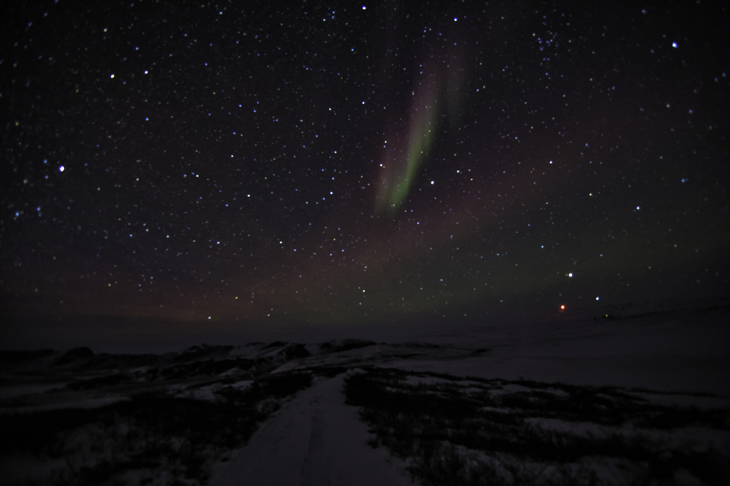 The Northern Lights Over Greenland