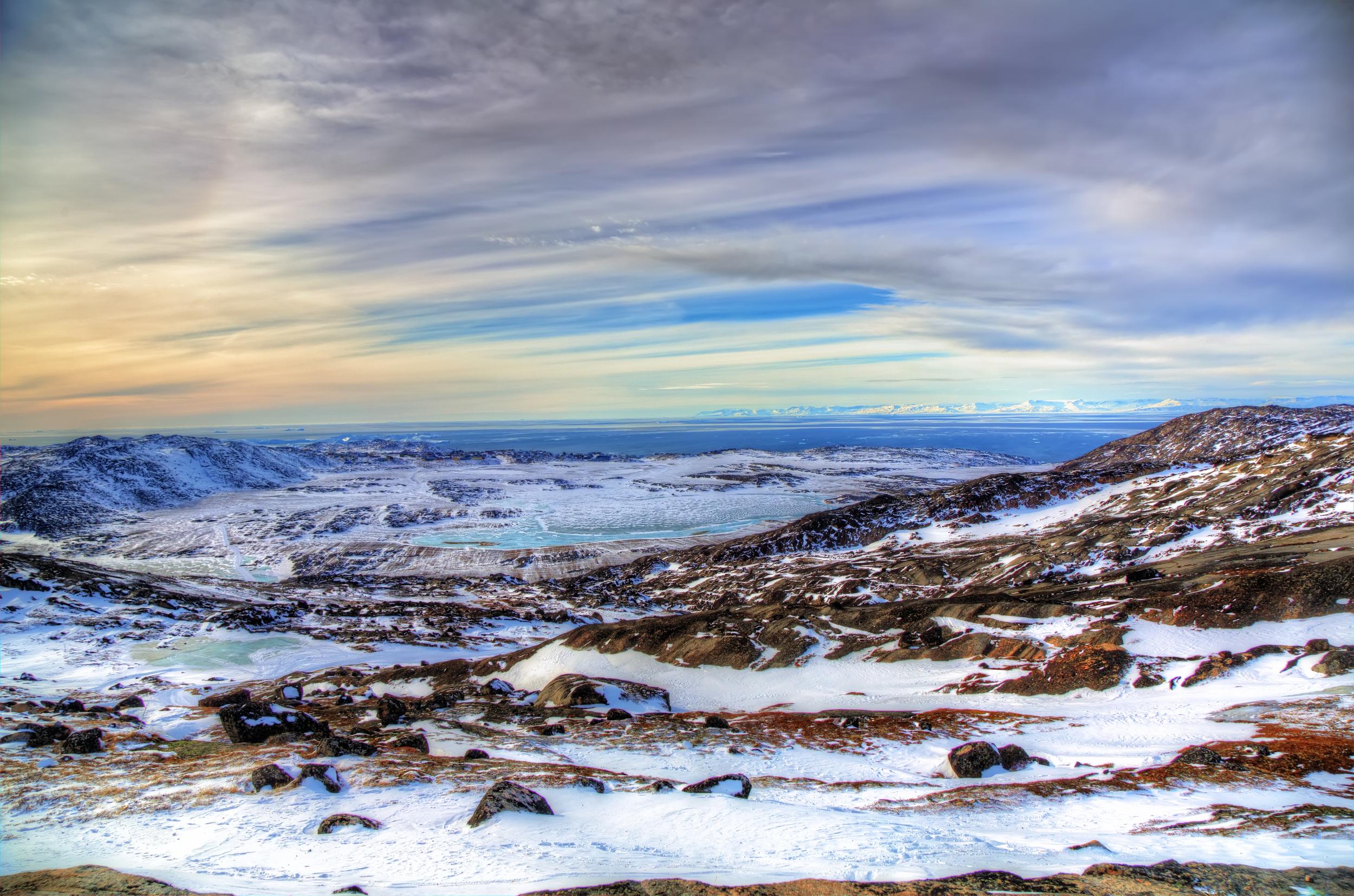 Entering Ilulissat By Dog Sled