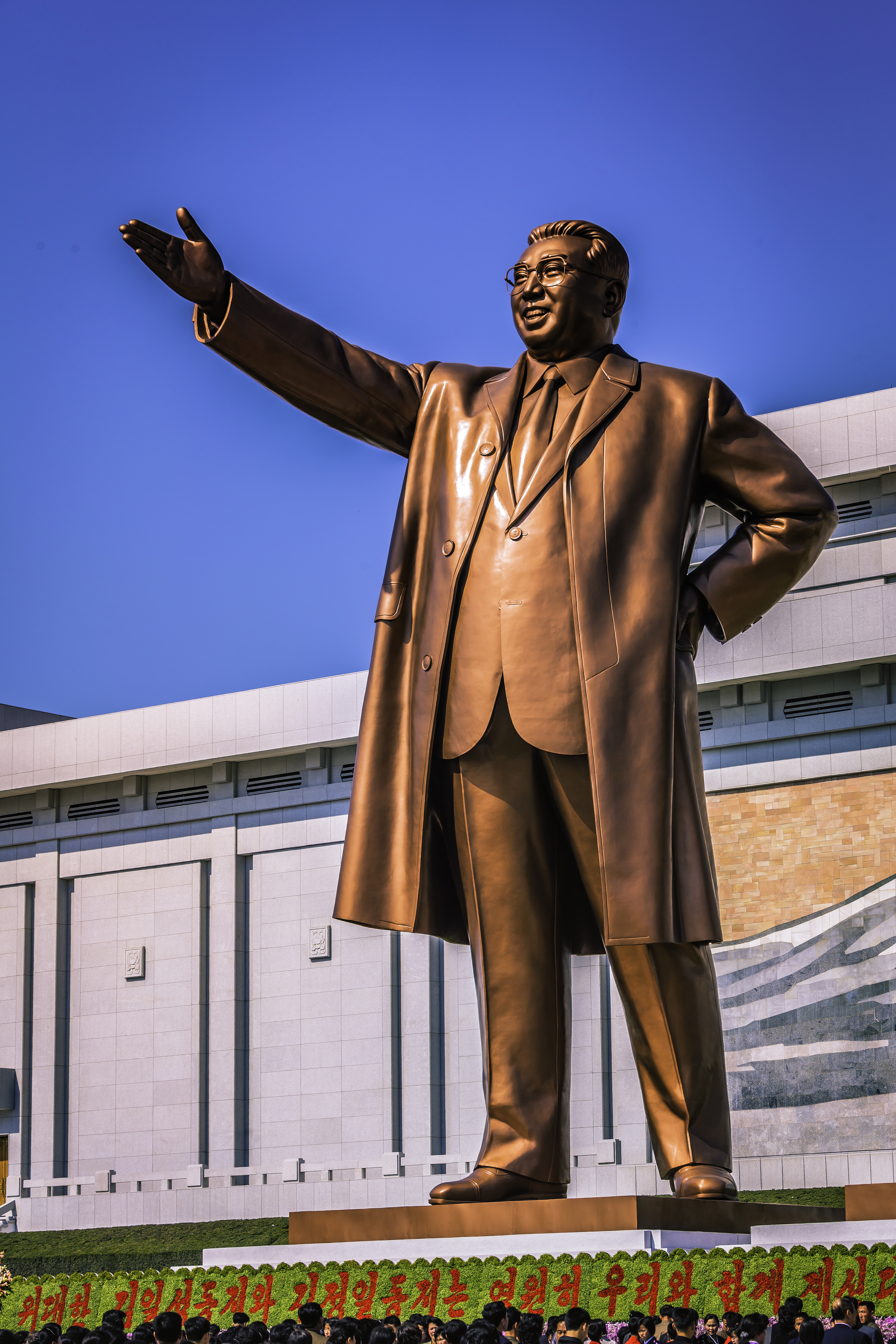 Updated Mansudae Grand Monument of Kim Il-sung