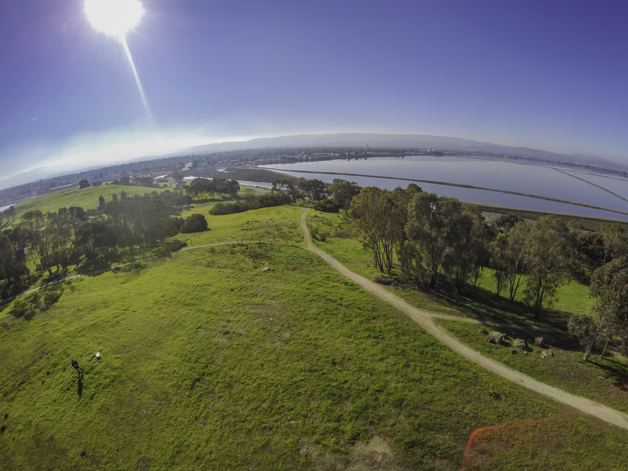 Dronie in Menlo Park, California. Shot with a DJI Phantom 2 and GoPro HERO 4 Black.
